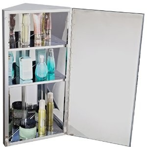 2.Homcom Armoire miroir rangement toilette salle de bain