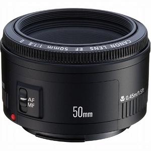 1.Canon EF 50 mm f-1.8 II