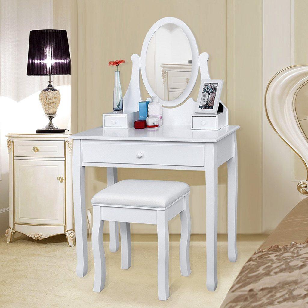 classement comparatif top meubles coiffeuses en avr 2018. Black Bedroom Furniture Sets. Home Design Ideas