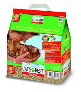1.Litière Végétale Naturelle pour chat 10L