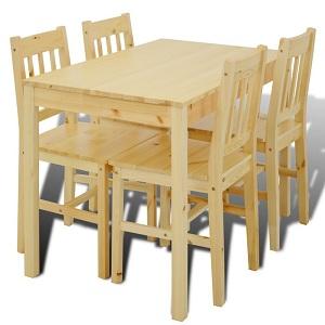 1.vidaXL Table à manger avec 4 chaises