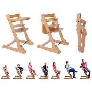 2.Chaise haute enfant pliable Evolutive Ibaby Evo