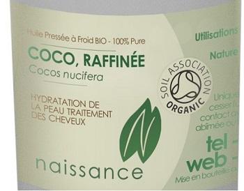 2.Huile Végétale de Coco Raffinée BIO