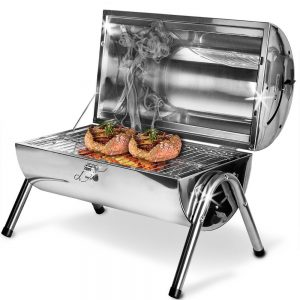 1.Barbecue portable double plaque grill