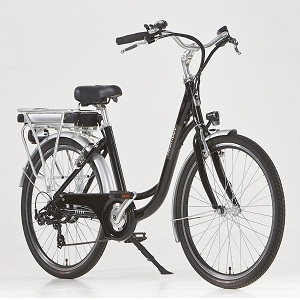 5.Vélo électrique Ville Linaria Noir-36 V