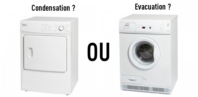 s che linge condensation ou vacuation comment