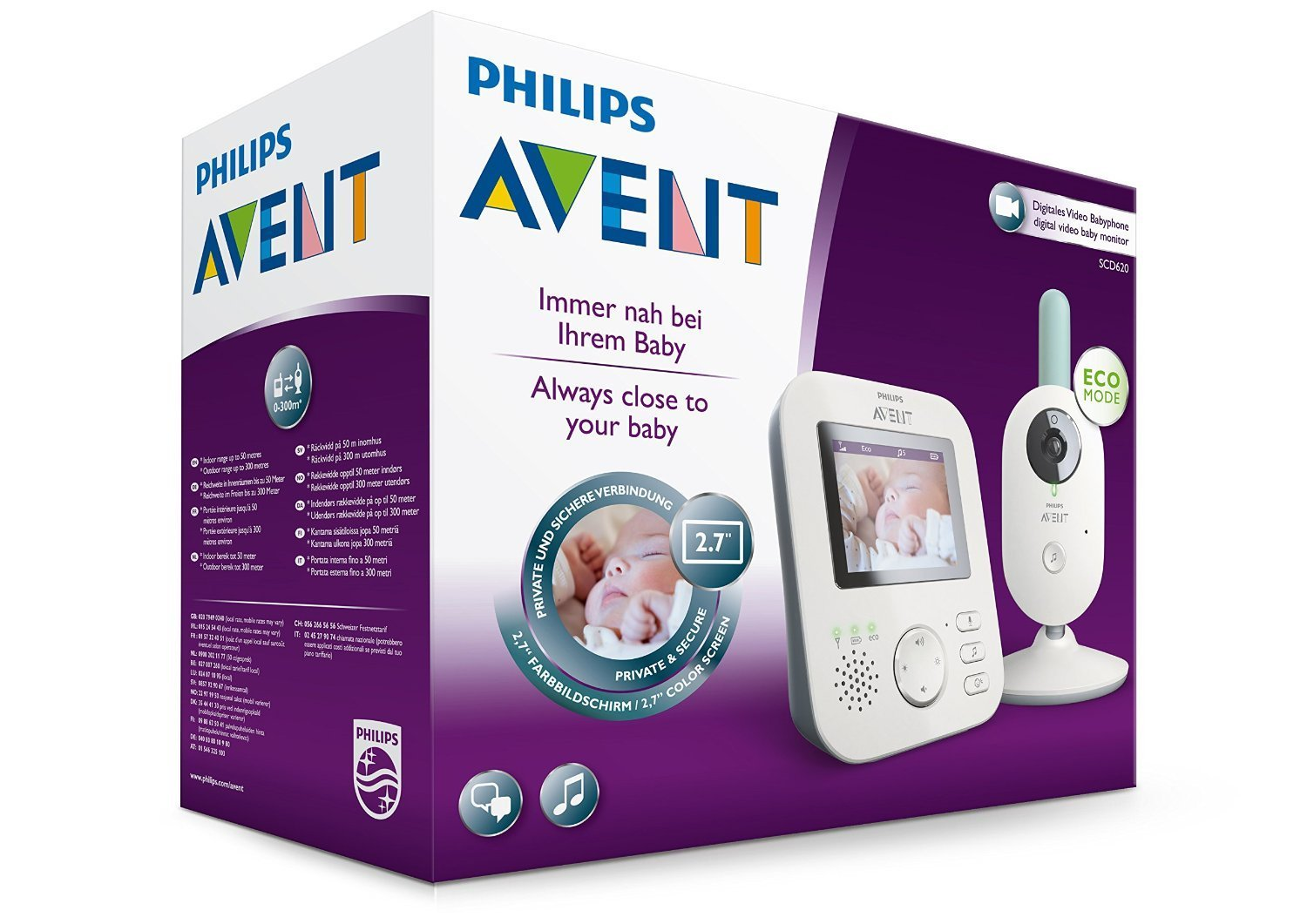 babyphone vid o philips avent scf620 01 avis tests prix en avr 2018. Black Bedroom Furniture Sets. Home Design Ideas