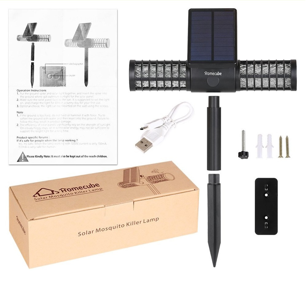 lampe solaire anti moustique guide d achat pour en choisir une bonne en avr 2018. Black Bedroom Furniture Sets. Home Design Ideas