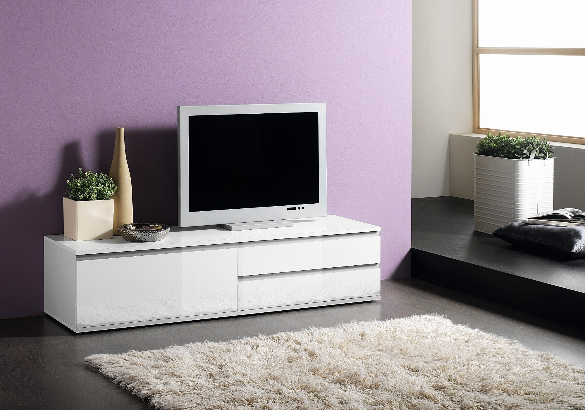 Meuble T L Design Meilleur De Meuble Tv Design Blanc Beautiful  # Meuble Tele Design Laque Blanc