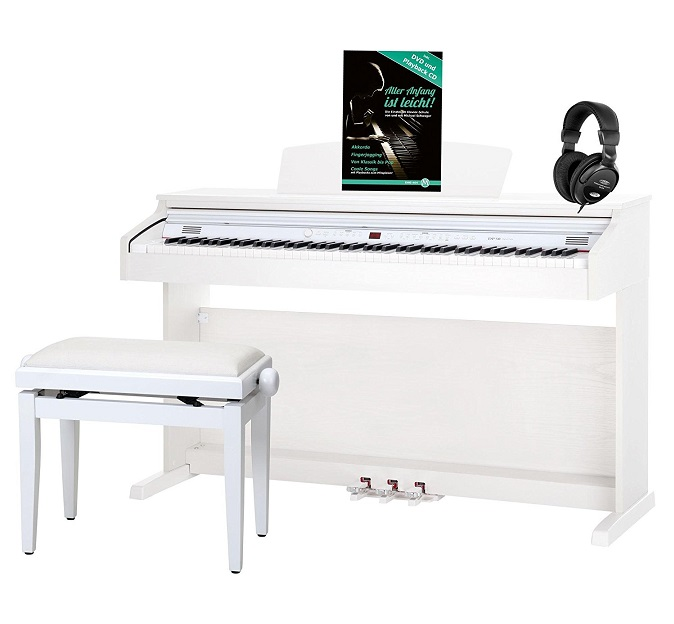 les meilleurs pianos num riques blancs comparatif en avr. Black Bedroom Furniture Sets. Home Design Ideas